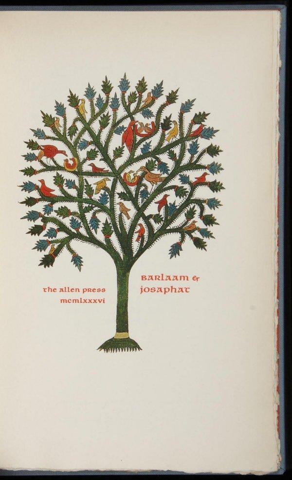 2007: Allen Press, Barlaam & Josaphat, 1/140 copies
