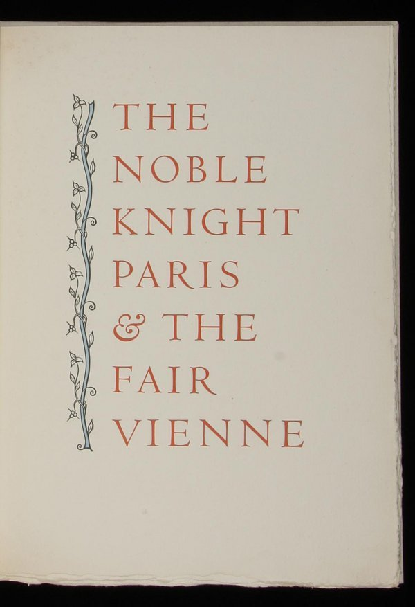 2017: Allen Press The Noble Knight Paris 1 of 130