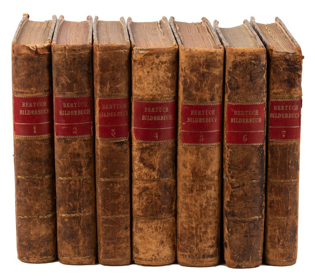 Seven volumes of Bertuch's Bilderbuch für Kinder