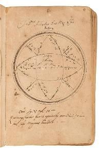Rare manuscript book of horoscopes, 17th century