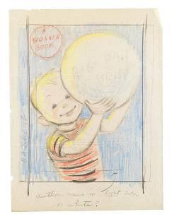Originat artwork for A Big Ball of String 1958