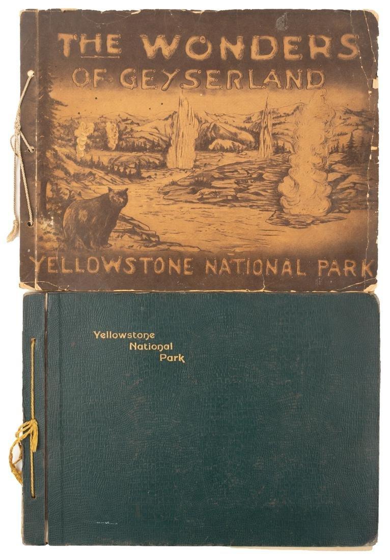 2 Yellowstone National Park postcard books