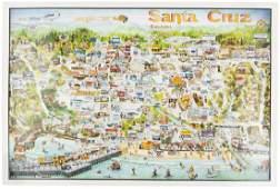 Color bird's-eye view/map of Santa Cruz, Cal.