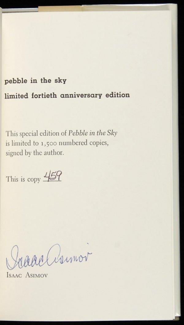 1002: Asimov, Pebble in the Sky, Sgd Ltd 40th Anniv. Ed