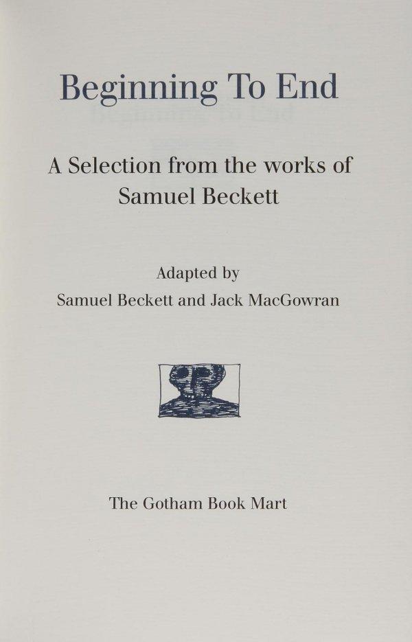 1007: Samuel Beckett Edward Gorey Beginning to End Sgd