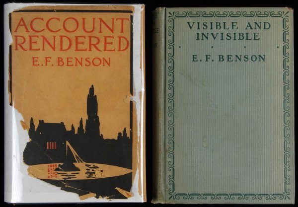 1008: Lot of two titles by E.F. Benson