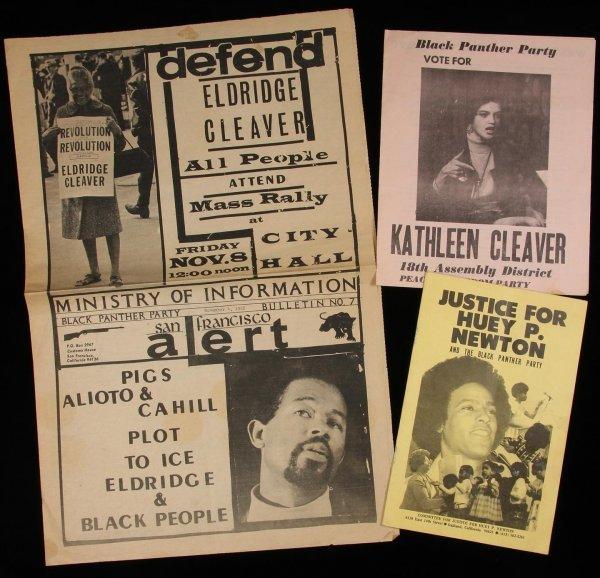 1014: Black Panther items Huey Newton Eldridge Cleaver