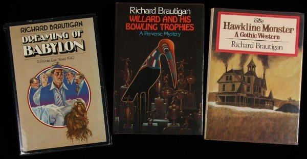 1019: Lot of 3 Richard Brautigan first edition books