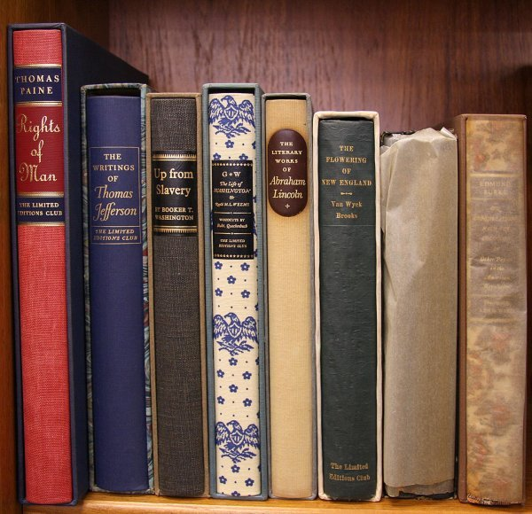 1400: Lot of 9 Limited Editions Club Americana volumes