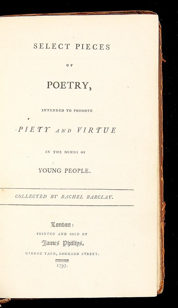 2014: Poetry Intended to Promote Piety and Virtue 1795