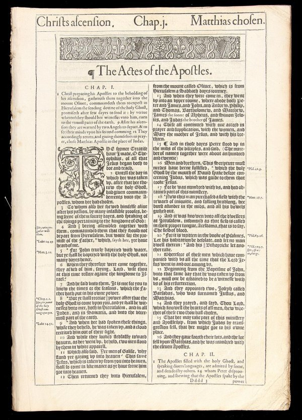 2020: Acts of Apostles from 1613 King James Bible