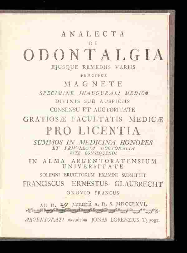 Scarce treatise on toothache remedies 1766