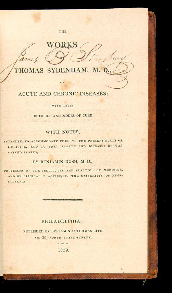 Works of Thomas Sydenham, M.D. Phil., 1809