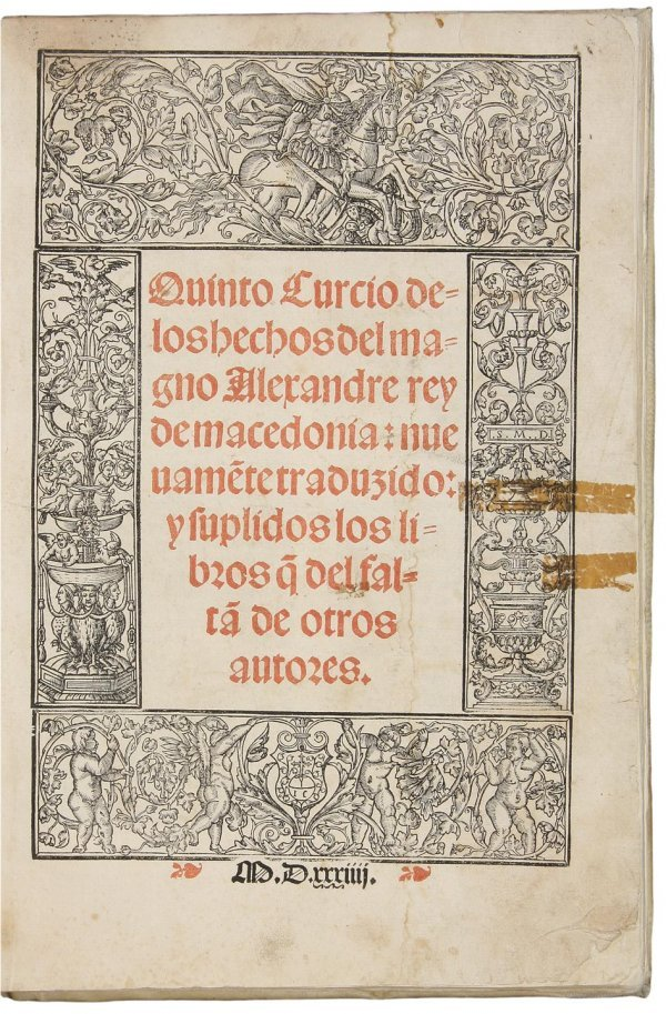 2247: Curtius' Life of Alexander in Spanish 1534