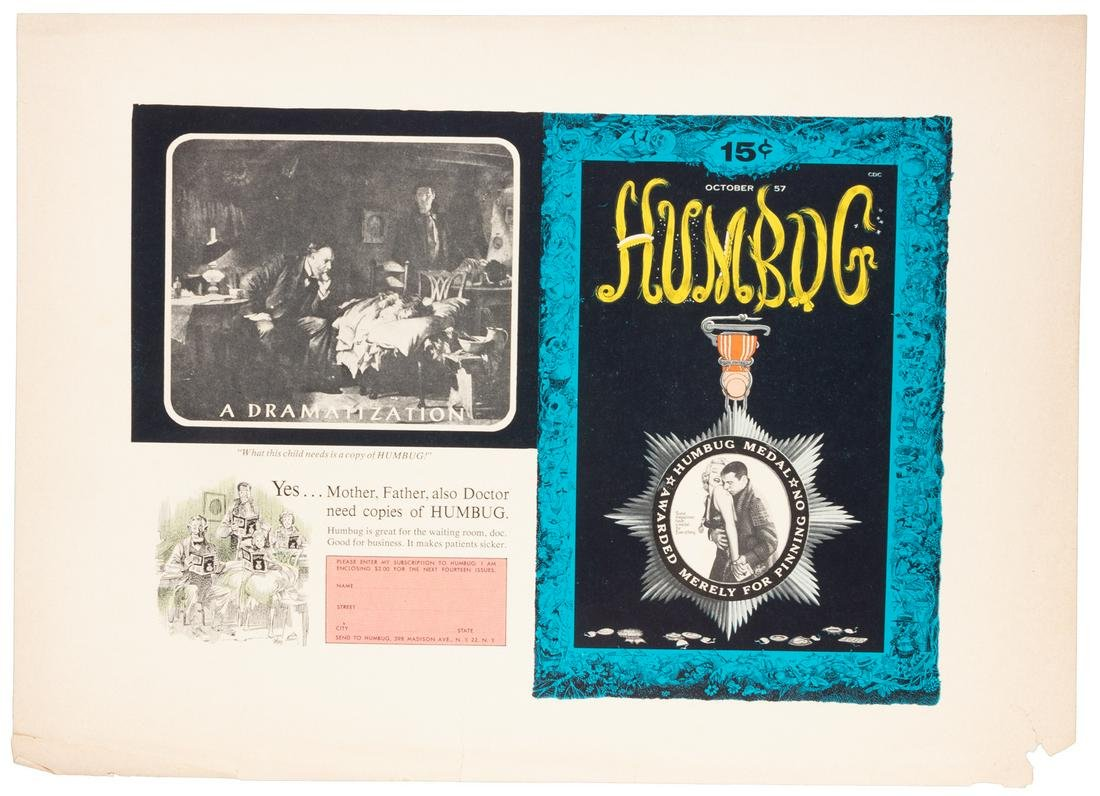 HUMBUG #3 Uncut Publisher's PROOF * Kurtzman, Elder