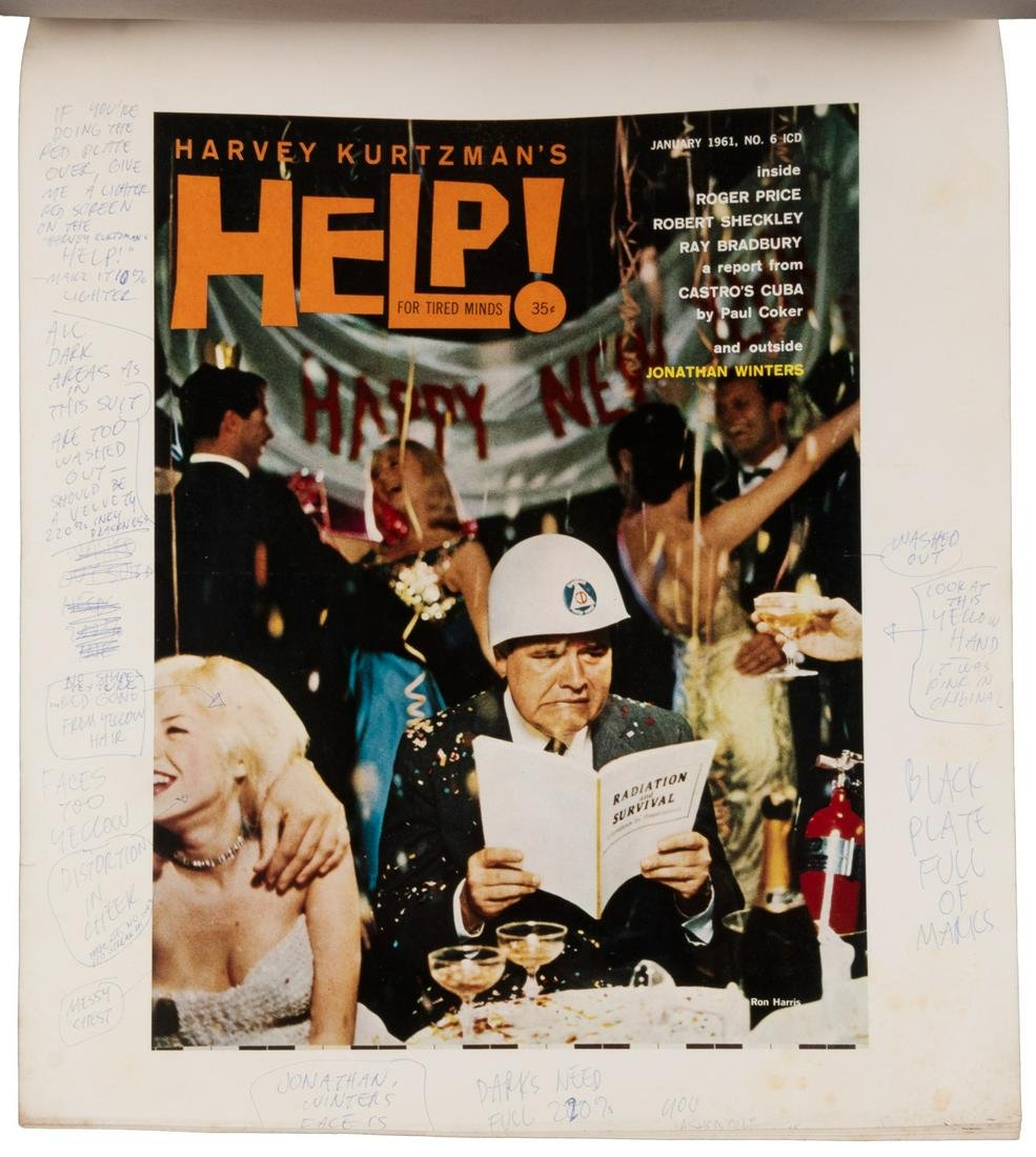 KURTZMAN'S Annotated Proofs: HELP! #6 Cover, 1961