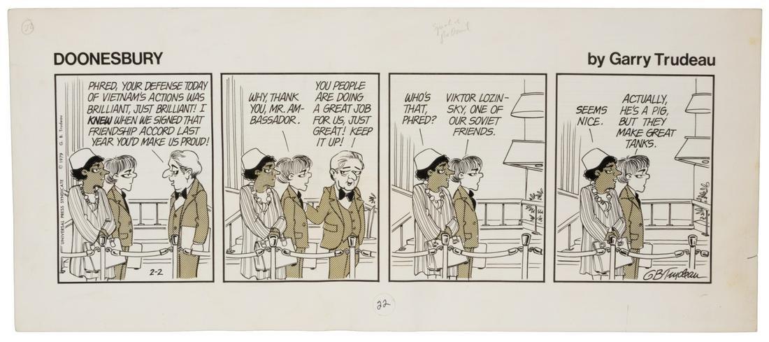 Original DOONESBURY Art by Gary Trudeau, 1979 Daily