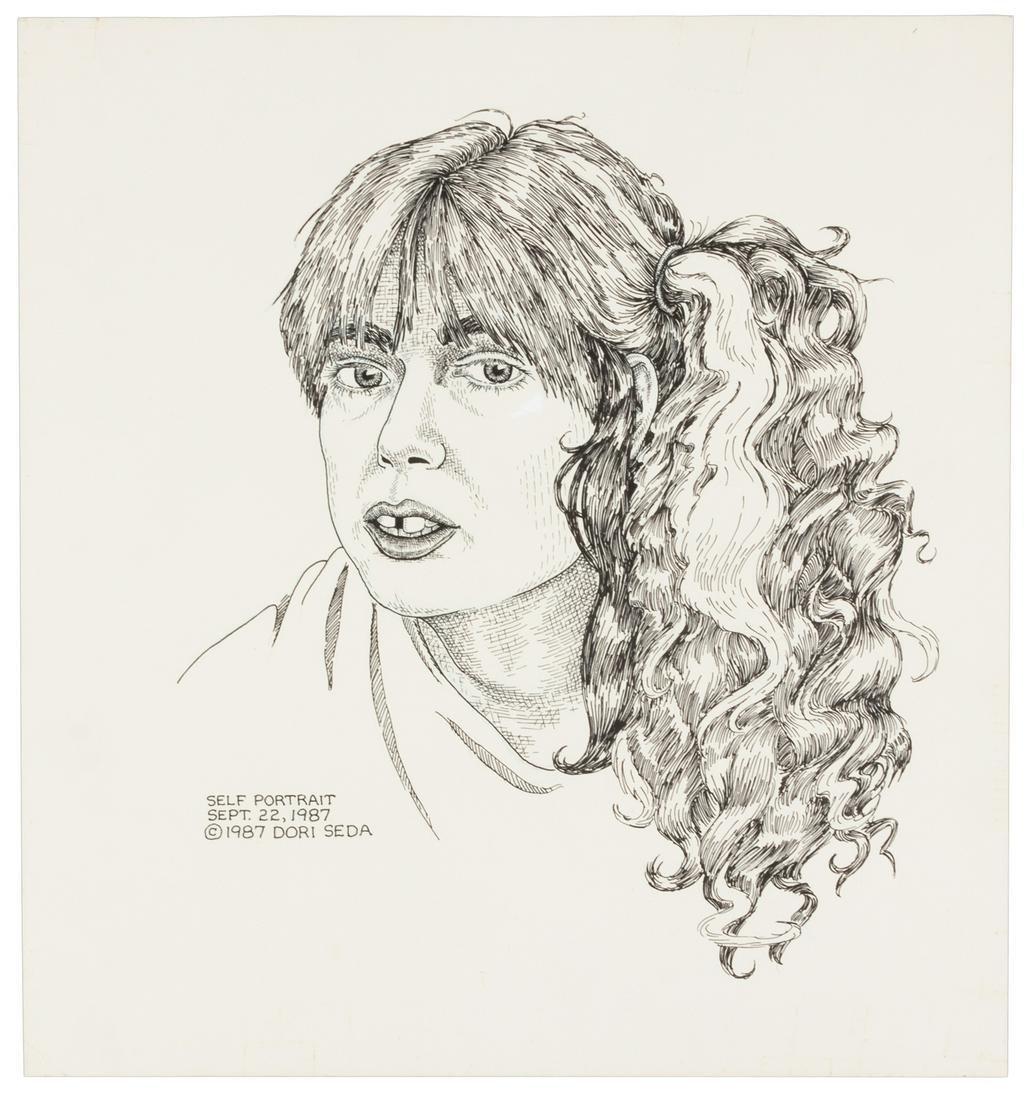 Original Art: DORI SEDA Self Portrait, 1987