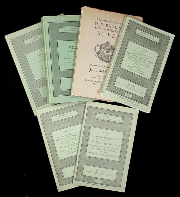 6: Six auction catalogues of silver collections
