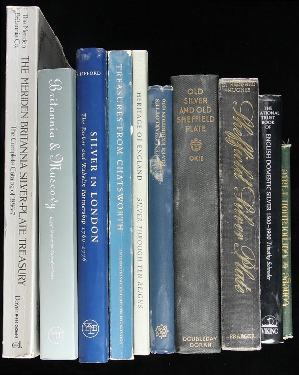 8: Large collection of books on British Silver