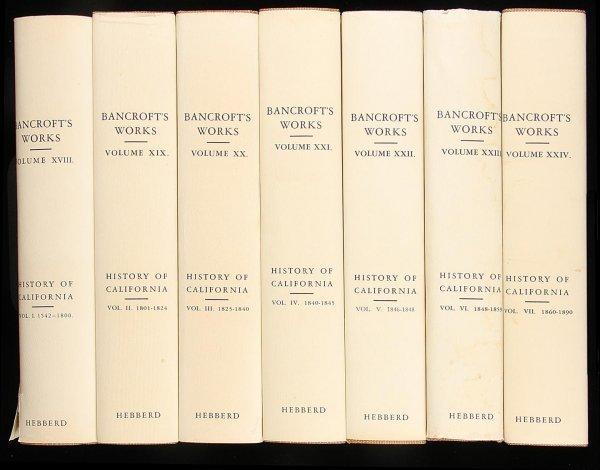 1007: Bancroft's History of California - 7 Volumes