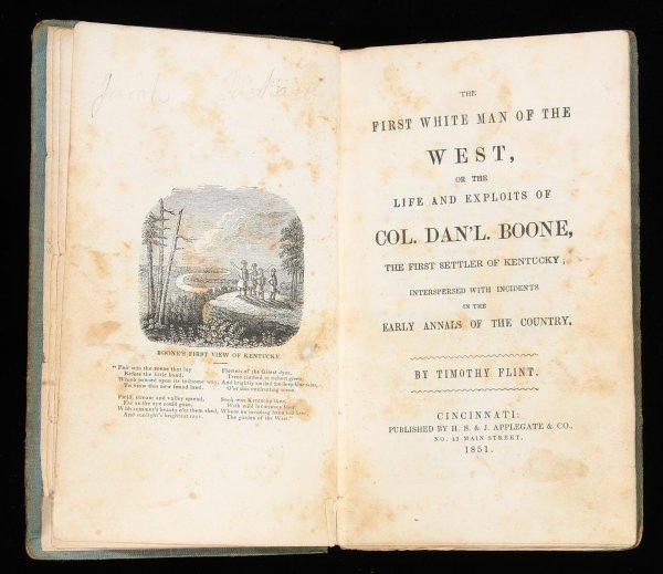 1013: Flint's Life of Daniel Boone 1851