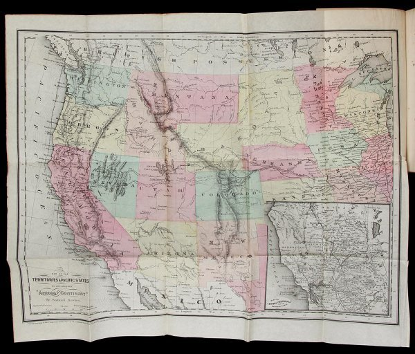 1015: Bowles Across the Continent with map 1865