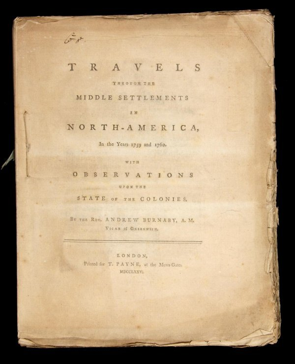1021: Burnaby observes colonial America 1775