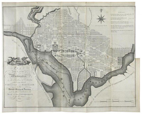 1401: Russell's Plan of Washington 1795