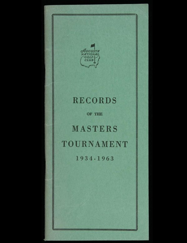 2007: Records of the Masters Tournament, 1934-1963