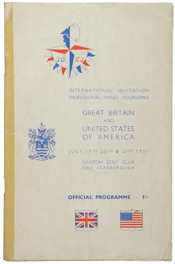 2010: 1951 Int'l Mixed Foursomes program - 7 autographs
