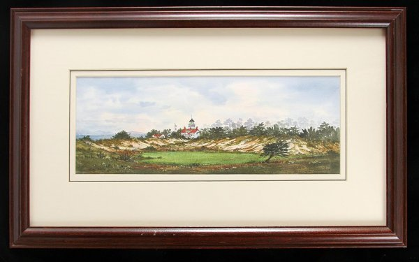 2013: Judy Baird watercolor Pacific Grove Golf Course
