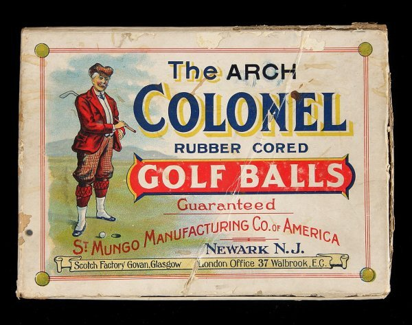 2014: Box for Arch Colonel Golf Balls