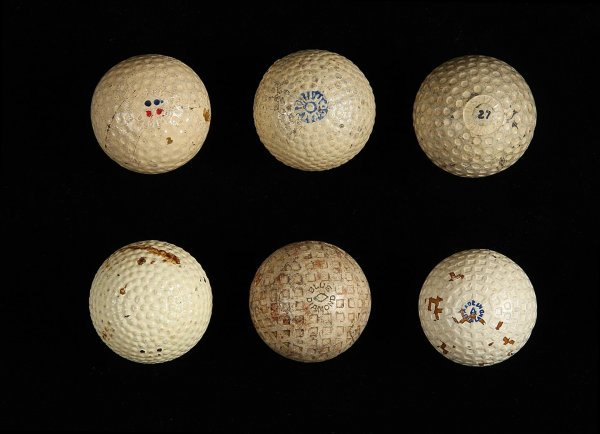 2017: Lot of 6 vintage golf balls