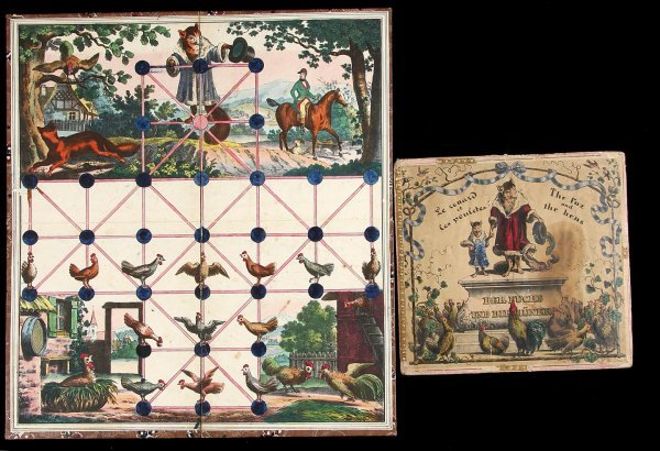 4014: The Fox and The Hens 19th Century Game Board