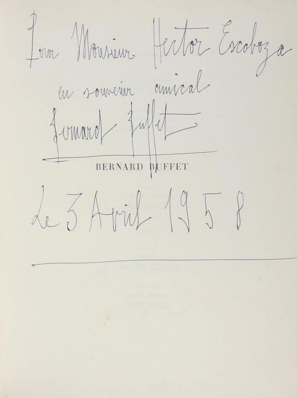 4016: Bernard Buffet Monograph 1958 Inscribed
