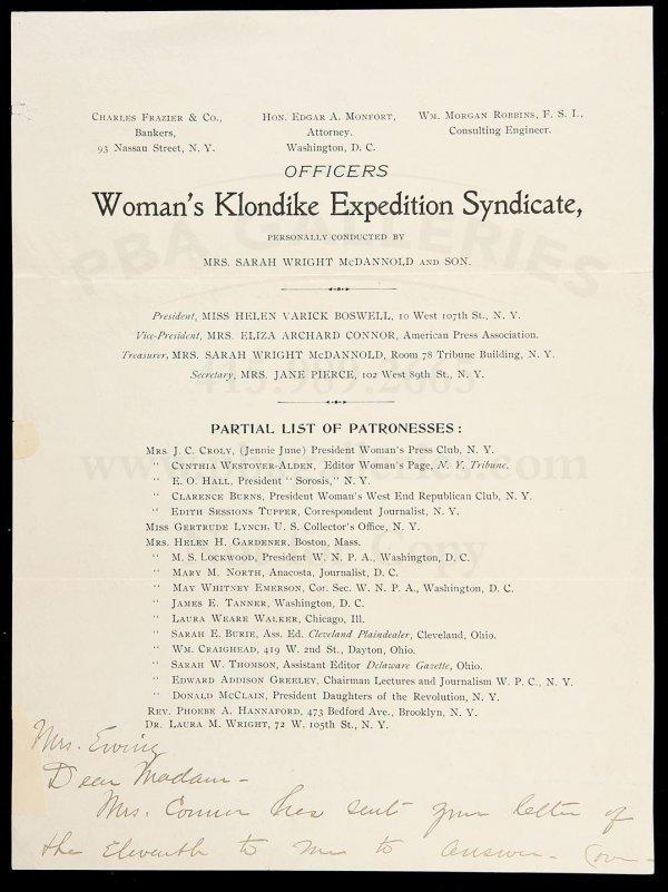 3: Alaska ALS Women's Klondike Expedition Syndicate