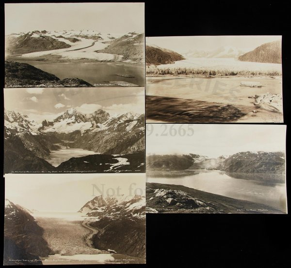 7: 5 silver photographs of glaciers in Alaska