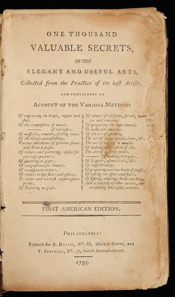 12: 1000 Valuable Secrets Philadelphia, 1795
