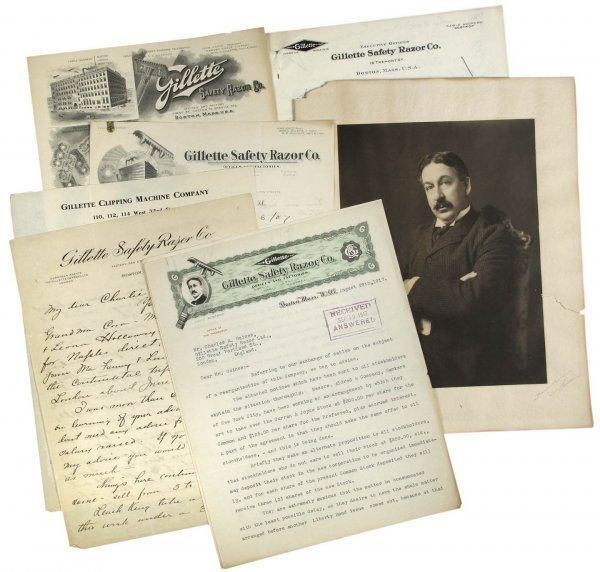 114: Archive of Gillette Razor Founder King Gillette