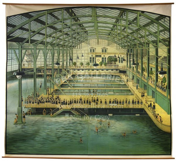 229: Massive Sutro Baths Lithograph