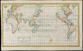 400 Tirion Map of World with Calif an Island 1750
