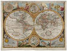 401: Walton's Map of the World after Speed, 1659