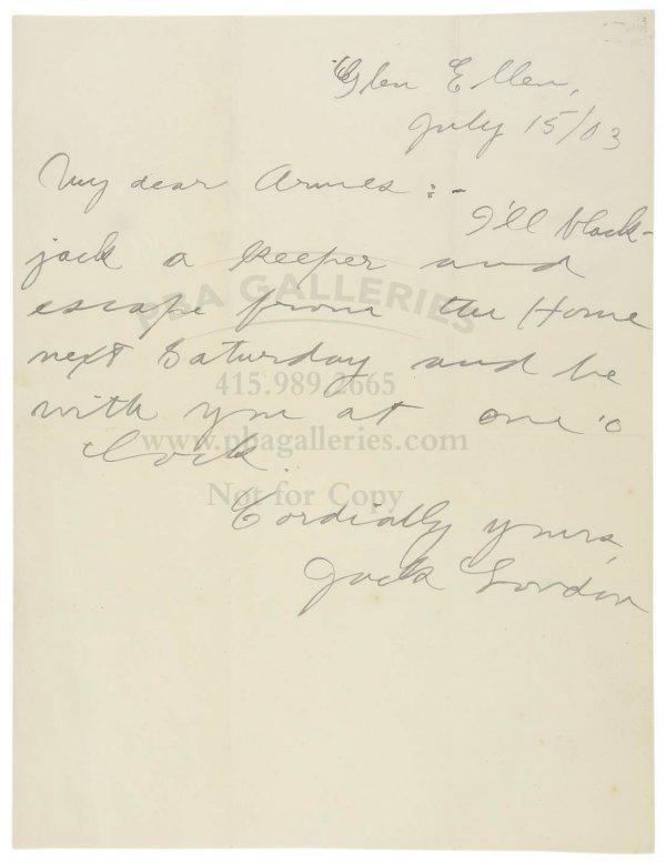 1005: Jack London Signed Letter