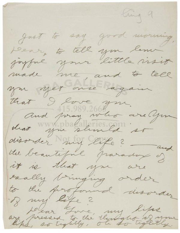 1006: Jack London Love Letter to Charmian Kittredge '03