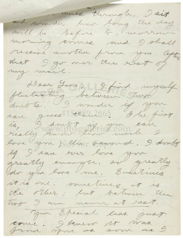 1007: Love letter from Jack London to Charmian 1903
