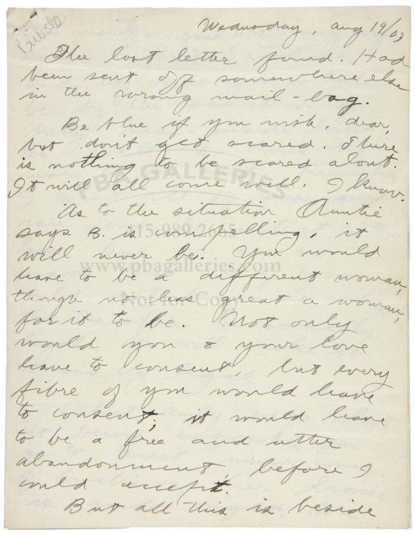 1008: Letter from Jack London to Charmian Kittredge '03
