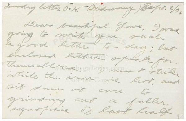 1009: Letter from Jack London to Charmian Kittredge