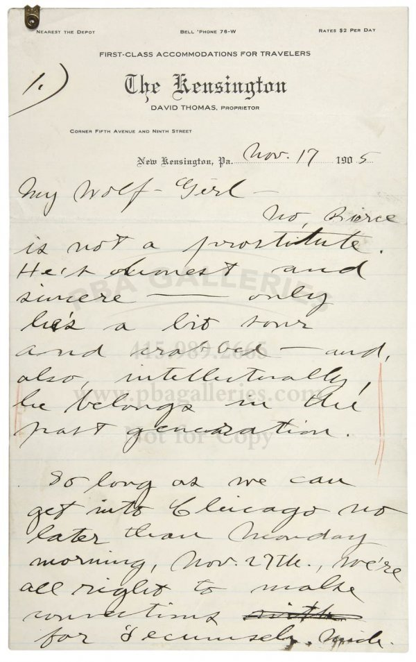1010: Autograph letter from Jack London to Charmian