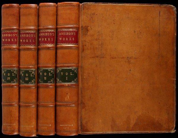 2002: Baskerville Printing of Addison's Works 1761
